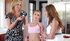 Blonde gives stepmom lesbian seduction xxx boy