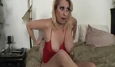 Big crack fucked step mother boobs w thong