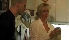 Blow job and fucking with nice german mom on homemade