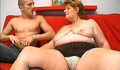 Chubby Mature Cutie MILF and young Stud