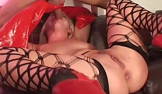 Best fetish, latex adult video with best pornstar Cherry Lyne from Fuckingmachines