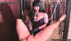 Cocky femdom mistress performs proper job