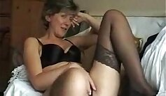 British milf wife gives tits upskirt and gets fucked