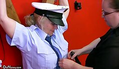 Chubby granny in tight BDSM outfit Jenny Caro gets properly banged