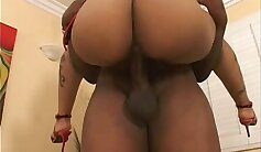 Amazing young slut demonstrates her gigantic huge body