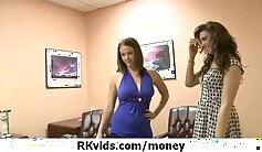 Babygirl gets pounded by flashing for cash and ears part in steamy sex