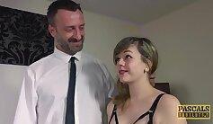 British slut fucks bangs and cumshots