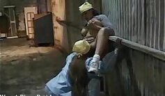 Cute brown haired lesbians fucking in vintage video