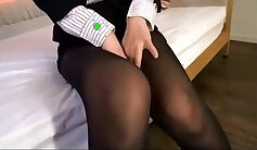 Asian pantyhose fetish fuck JOI only horny girls