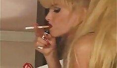 Busty Pornstar Lady Retard Volt Smoking