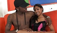 sexy African babe spreads her legs widely for a hard cock