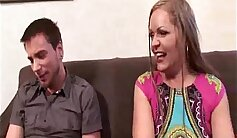 Busty blonde milf Nacho Montero is getting hammered by two guys