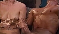 An incredible retro threesome session