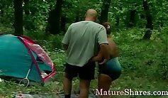 Black large dick penetrating a mature slut