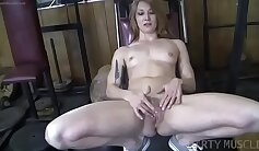 Big titted Redheaded librarian gets a mouthful of cum