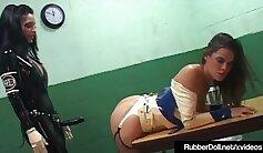 B , Big rubber cock in slavegirl