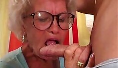 Brownblonde Granny Fucked in the Ass