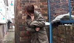 Amateur prostitutes strip outdoors