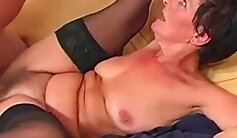 Busty granny gets hairy pussy jiggling - Julia Reaves