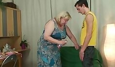 Buxom mom Valentina gets fucked in missionary position