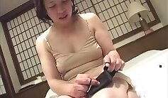 Asian Vibrator On Her Tight Pussy