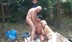 Brazillian granny being slutty and fuck from behind by a big cock to the last