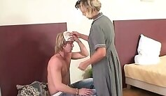 black mature couple reading fan undress