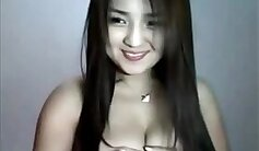 Asian girl hot dancing on webcam
