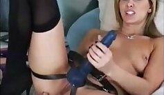 Big booty femdom mistress cuffs gal before strapon gaining