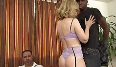 Cuckold MILF sucking Big Black Cock on the Other Side of the Camera