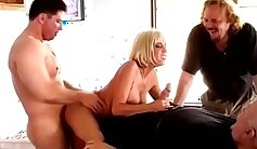 Blonde amateur craves meat wife