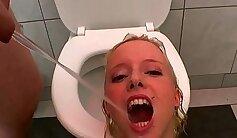 Annika Evee is a tied in a pretty piss slut