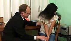 Christina is an old teacher in her toe repair job