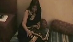 Bisexual Indian couple make out in bed