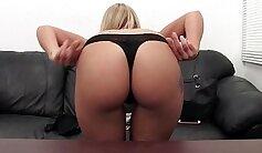 Blonde anal creampie deep asshole