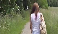 Asian Girlfriend Creampied in Public