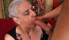 anal cuckolds cock queen with kinky granny - hog ring