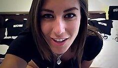 College slut flirting on webcam