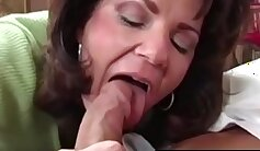 Bound cougar with huge tits gets doggystyled