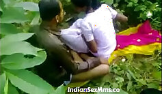 Buxom indian babe sucks off young man while getting pecked