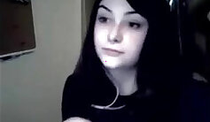 Beautiful girl emo cam show at photo