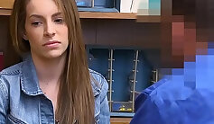 Shoplyfter Pregnant Teen Punished And Fucked For Stealing