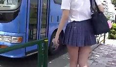 hot group of naughty girls dresses upskirt on the waterhooks